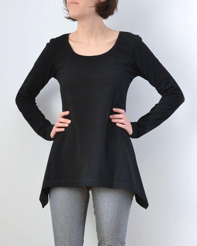 T-Shirt-Bausteine: Zipfelsaum