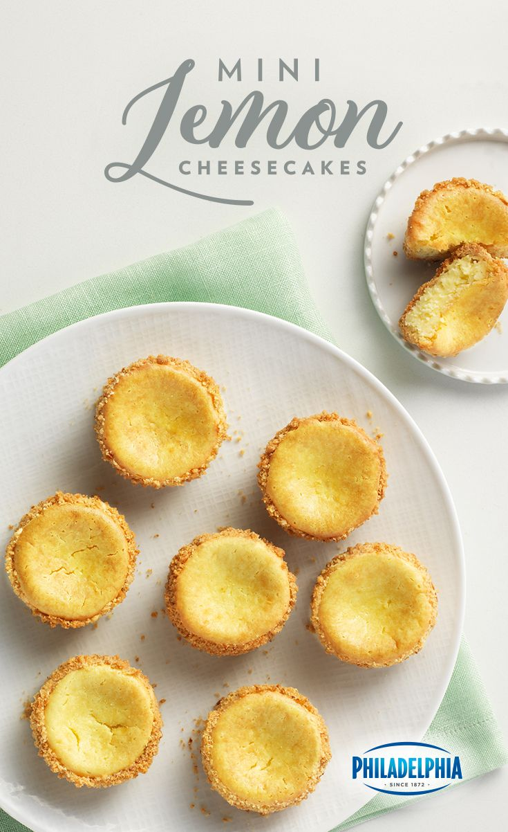 Vanilla wafer crusts combined with a lemony Philadelphia cream cheese filling to make these little guys tasty, as well as adorable.