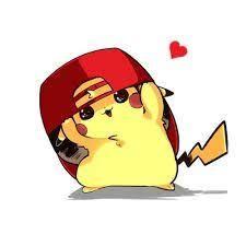 Resultado de imagen de imagenes de pikachu kawaii con gorra