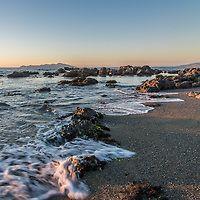 Pukerua Bay Beach at Sunset