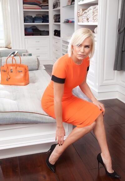 Yolanda Foster closet white wood floors thick planks