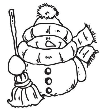 Co9604 Corrie's clear stamp Snowman