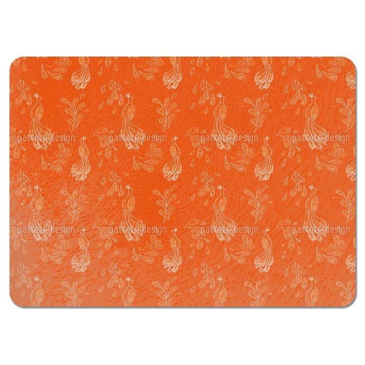 Uneekee Maharani Orange Placemats (Set of 4) (Maharani Orange Placemat) (Polyester)
