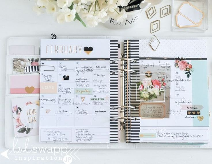 Finished Planner Pages
