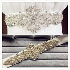 On sale Crystal Bridal Sash , Wedding Dress Sash Belt ,Rhinestone  Wedding Sash