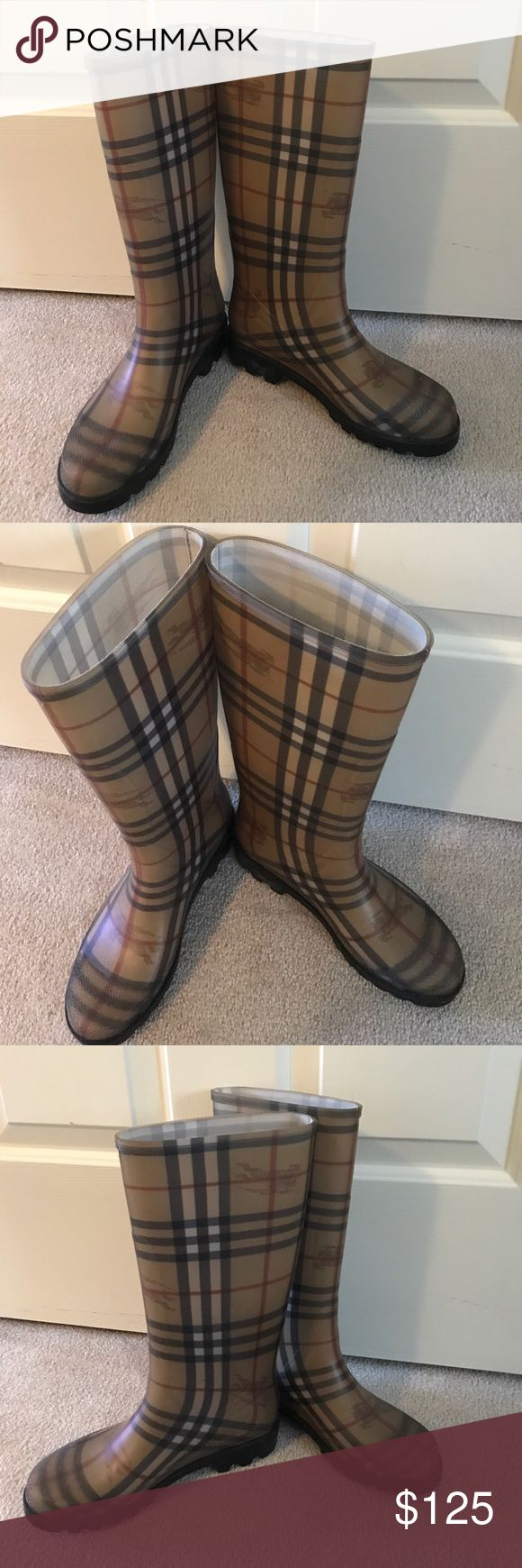 Burberry rain boots Authentic Burberry rain boots in excellent condition Burberry Shoes Winter & Rain Boots