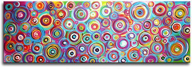 Een heel mooi en vooral kleurrijk kunstschilderij zoals wij dat gewend zijn van kunstschilder Ines