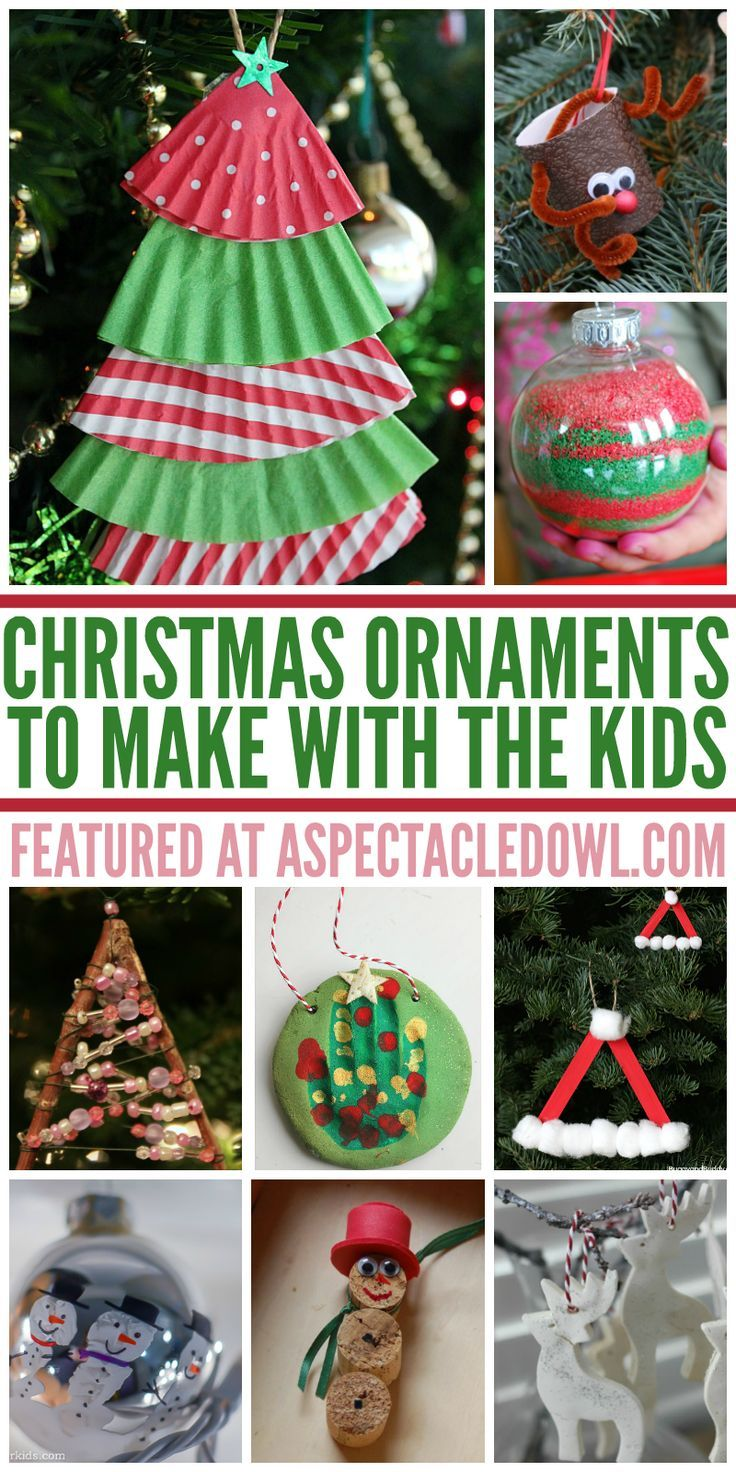 Christmas ornaments to make at home - 25 Christmas Ornaments To Make With The Kids