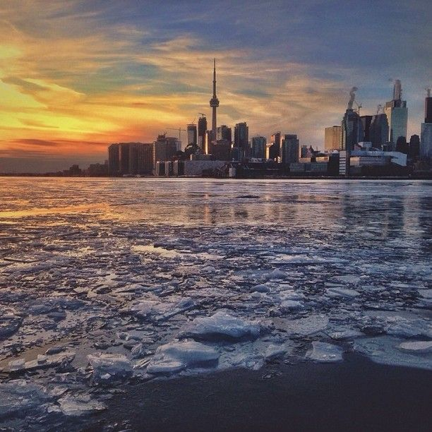 A shot of the city after the ice storm photo credit to: Peter Horvath #icestorm #toronto