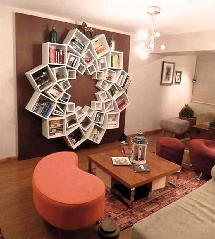 Дизайн интерьеров. Книжные полки-оригинальные и необычные. Фото. Оригинальный дизайн книжных полок может прекрасно украсить любое помещение и стать прекрасным дополнение в создание наиболее подходящей атмосферы в доме.