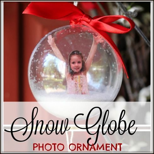 Are you looking for the perfect Keepsake Christmas gift?  Maybe you're a teacher and you want to send home something special to the student's parents for Christmas.  I love the snow-globe!  It reminds me of my other favorite handprint keepsake ornament, but this one has a photo.  You know what else I love about this …