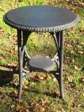 Round Wicker Table: Antiques Wicker, Wicker Tables, Wicker Furniture, Round Wicker, American Antiques