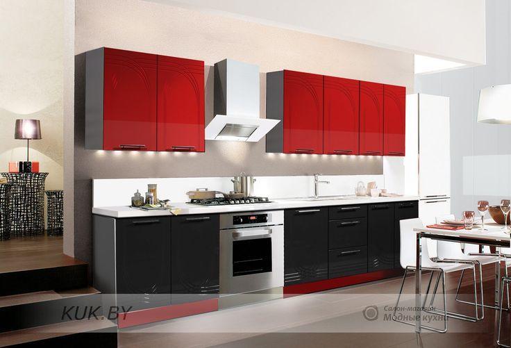 кухня красная с черным - Поиск в Google