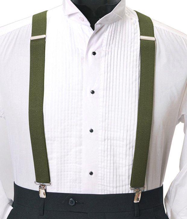 Civil Outfitters Smart Green Suspender with Key Chain Dairy