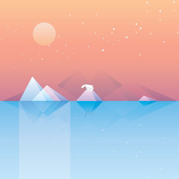 Wallpaper Iphone Minimalist: Minimalistic Geometric Desktop Wallpaper Landscape Set