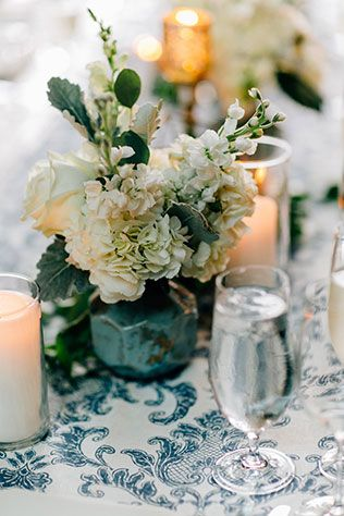 An elegant and romantic summer wedding in Chicago with a lovely blue palette