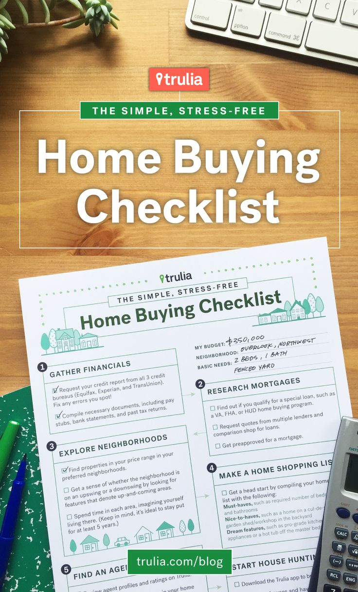 Trulia s home buying checklist trulia 39 s blog real for Checklist for building a new home