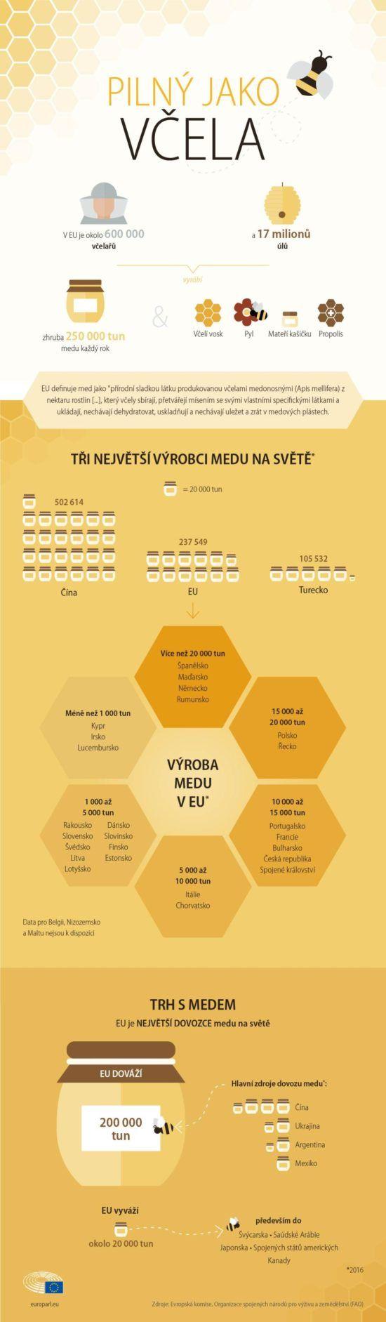 Včelí infografika pro všechny milovníky medu.