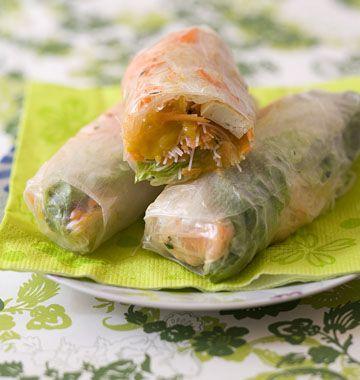 Rouleaux de printemps au tofu et à la mangue - Recettes de cuisine Ôdélices