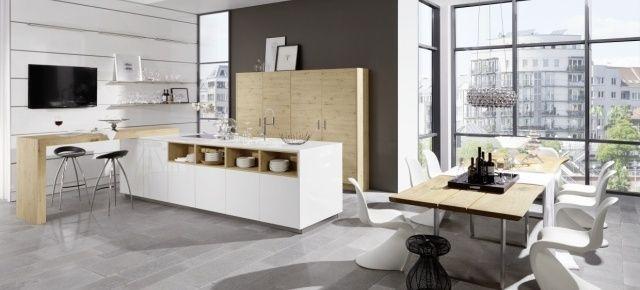 Nowoczesne kuchnie z otwartymi półkami. Kuchnia z linii Artwood/Lux, Nolte Küchen