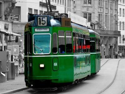 Tram. Linie 15. Basel.