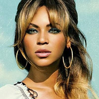 Beyonce's eye makeup. And, frankly, hair. And earrings.