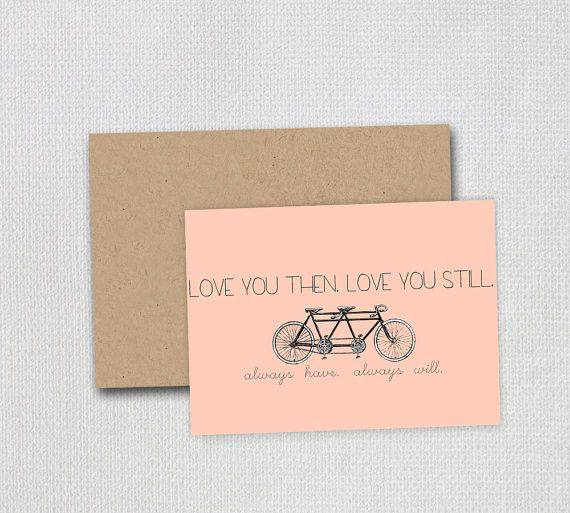 love you then. love you still. always have. by lovelylittlepaperco, $4.00