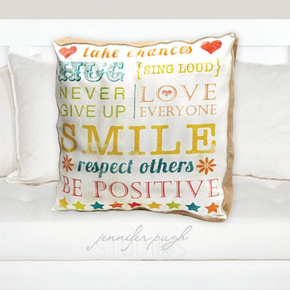 Decorative Throw Pillows With Words : Decorative Pillow - Take Chances 20