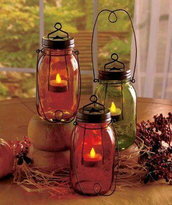 más y más manualidades: Recicla tus frascos de vidrio para crear bellos portavelas