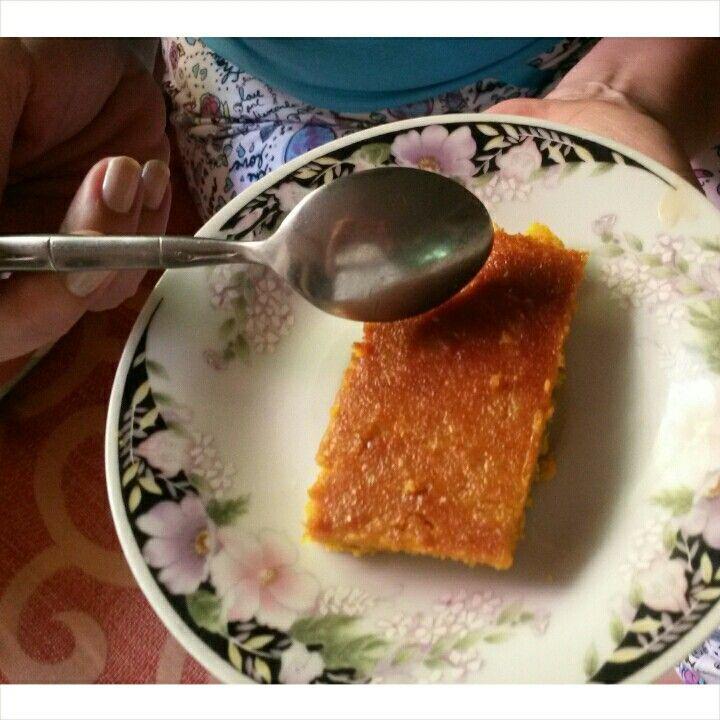Torta de Auyama SALUDABLE sin gluten HARINA DE GARBANZO MANTEQUILLA AZUCAR MORENA VAINILLA HUEVOS