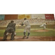 Oil painting Fashion Knit Alder's Gloves Old Gold Van, And Player with number 4 on his Jersey.