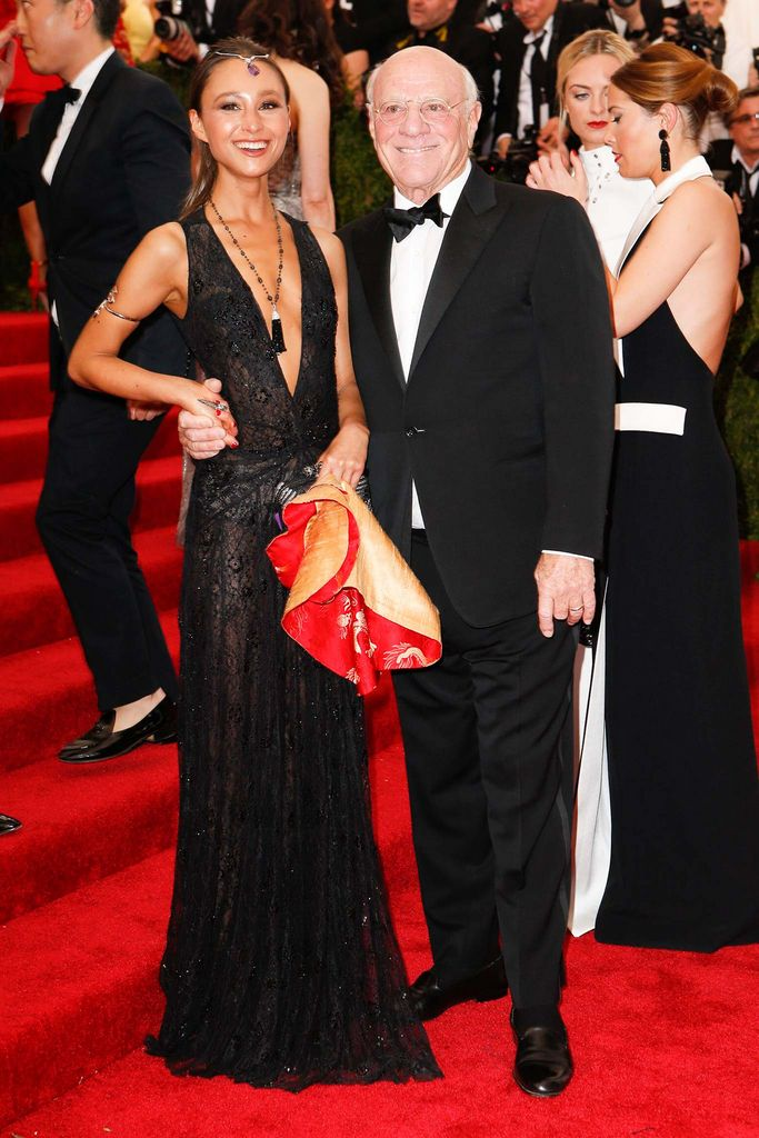Gabi Holzwarth and Barry Diller at the Met Gala May 4, 2015
