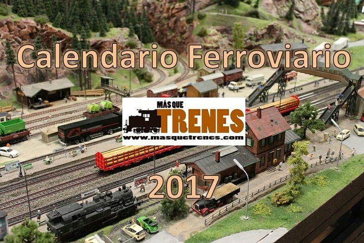 #calendario #ferroviario 2017 gratis en www.masquetrenes.com