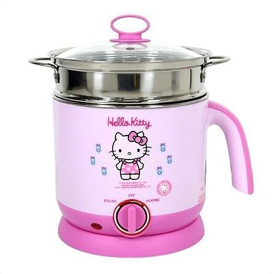 Streaming Egg Other Food Water Boiler Heat Adjustable Hello Kitty 1 5 Liter Pink
