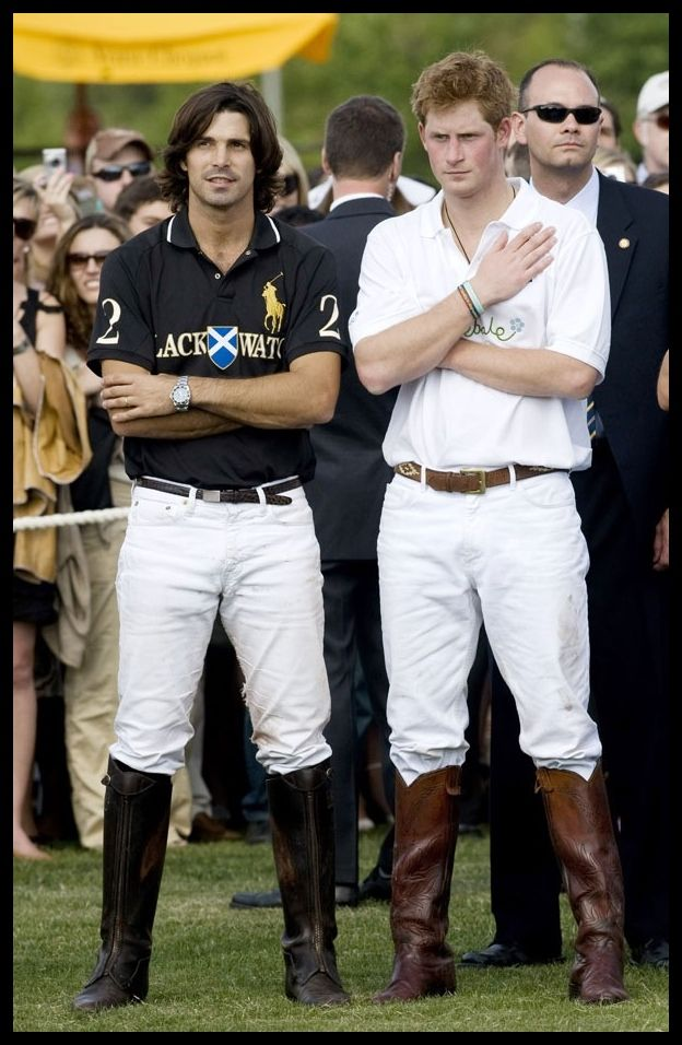 Nacho Figueras and Prince Harry. Cute.