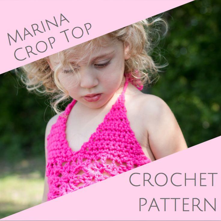 Marina Crop Top - crochet PATTERN - 4 sizes