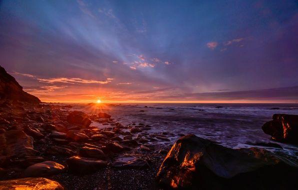 автор: shtumf / размер: 6016x4016 / теги: Южный остров, западное побережье, Новая Зеландия, солнце, небо, закат