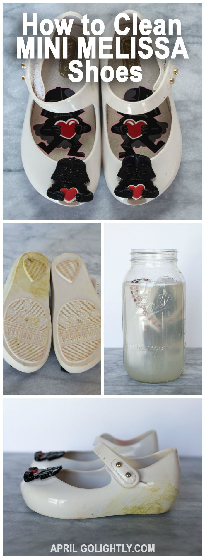 How to Clean Mini Melissa Shoes - cleaning your toddler bow jelly sandals to make them fabulous again