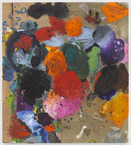 Jim Dine, God's Wish and Crying, Acrylic and Sand on Canvas