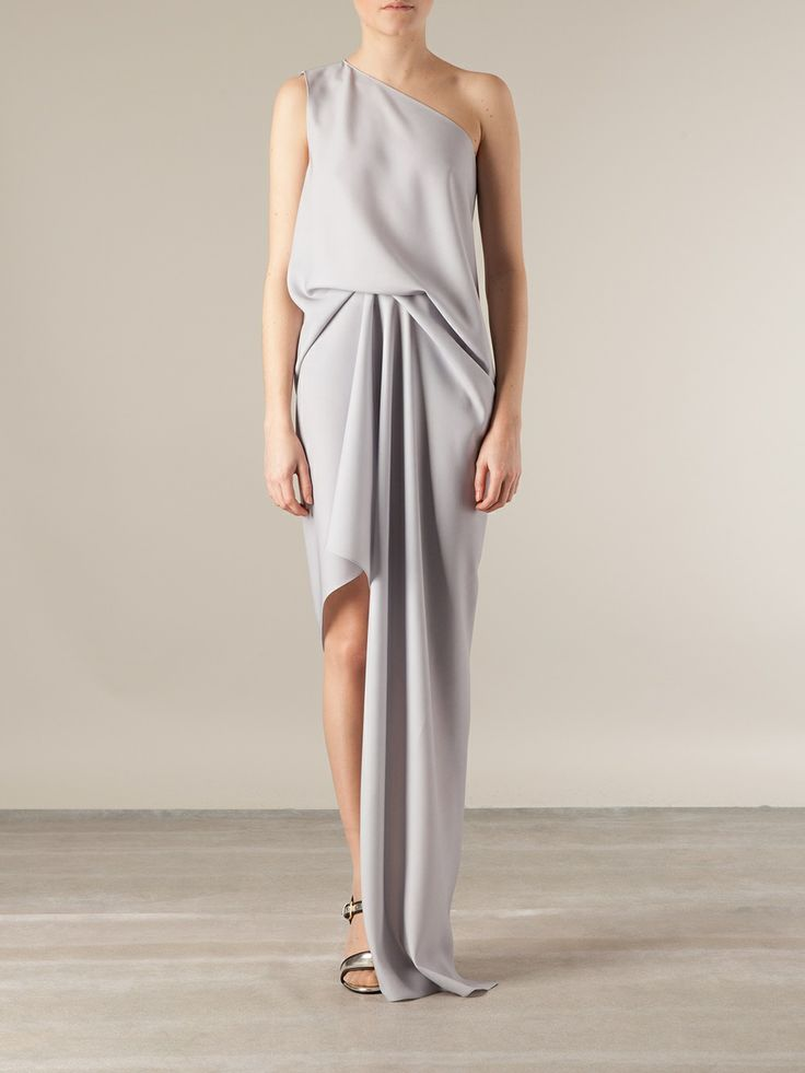 Maison Rabih Kayrouz Draped Asymmetric Gown. #teachmefashion