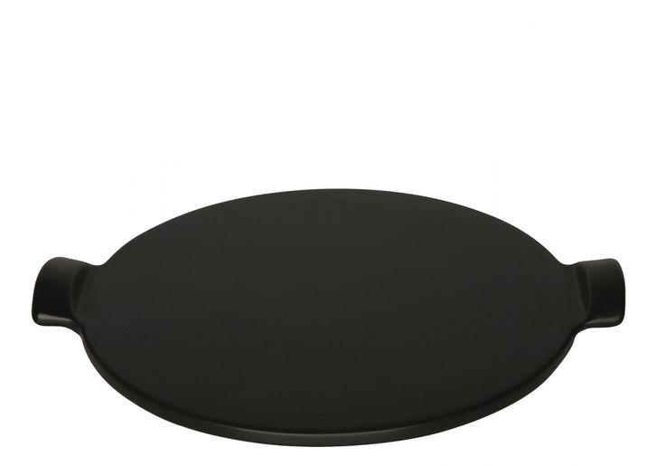 Kamień do pieczenia pizzy średni - czarny - Emile Henry - DECO Salon  #pizza #stone #baking #kitchenaccessories