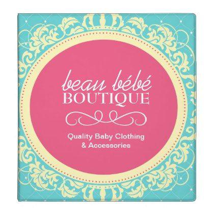 Baby Boutique Portfolio Binder - pink gifts style ideas cyo unique