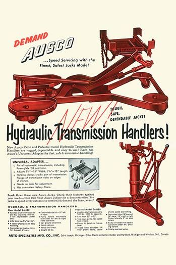 Ausco Hydraulic Transmission Handler - Art Print  #9785873354405 #Buyenlarge #IndustrialAmerica #Invention #New