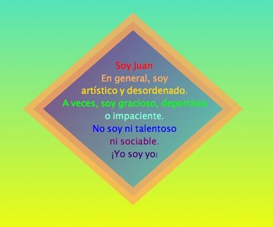 poema diamante - verbo ser - spanish class - A1: