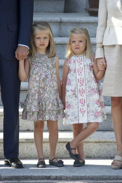 Princess Letizia's daughters Princess Leonor and Princess Sofia.