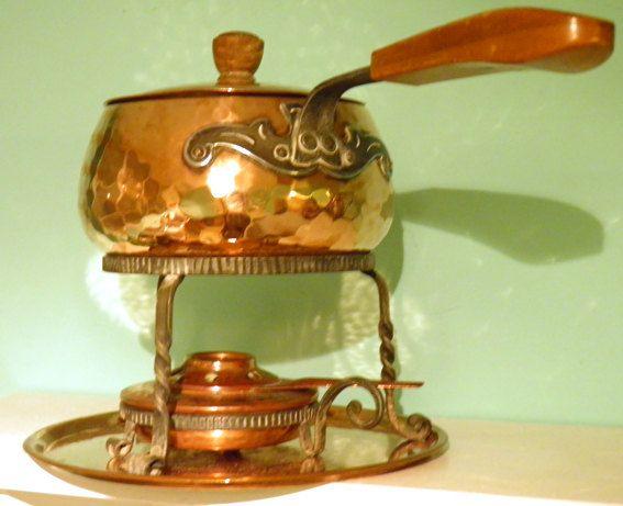 Hammered Copper Fondue Set by Stockli Netstal by Culhoulan on Etsy