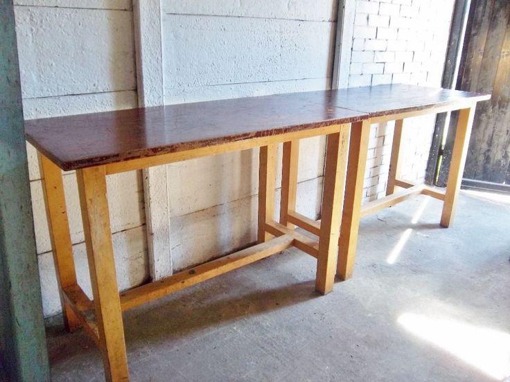 Tall Vintage Esavian Old School Lab Studio Dining