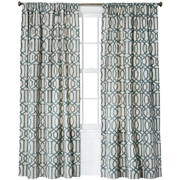 Curtain Panel - Threshold™ : Target (220 MXN) ❤ liked on Polyvore featuring home, home decor, window treatments, curtains, target home decor, target curtain panels, target window panels, target window treatments and target curtains