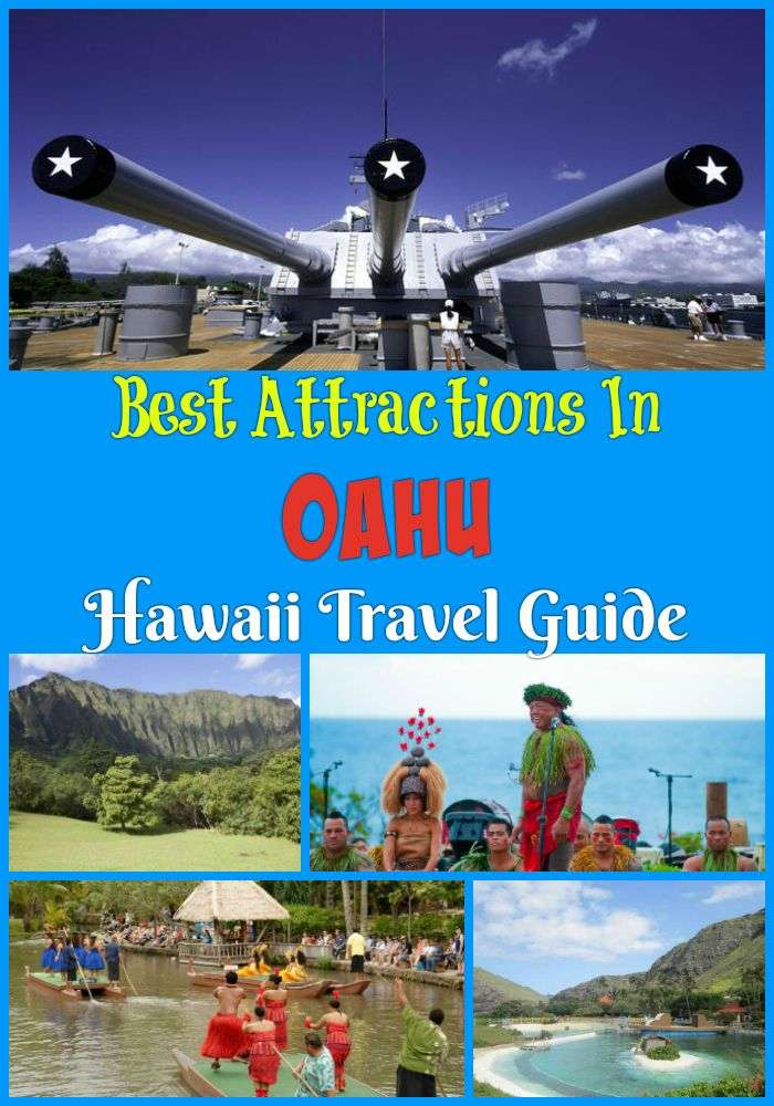 Best, must-visit Oahu attractions - Sea of Life Park, North Shore, Byodo-In Temple, Nu'uanu Pali Lookout, Kualoa Ranch and more points of interest!