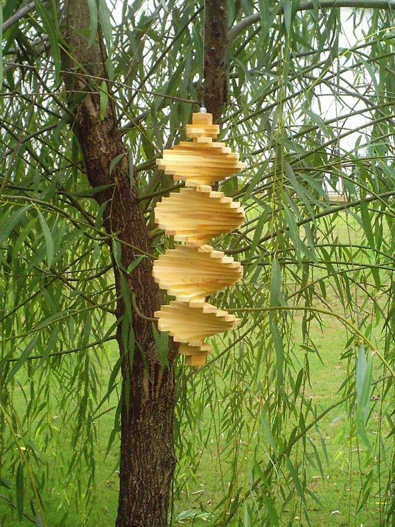 Select Cypress Wood Wind Spinner Helix 6X18 by CypressSpinners, $20.99
